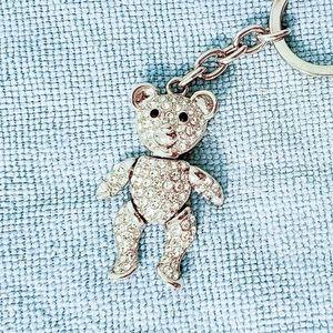 Alexander Kalifano Crystal Teddy Bear Keychain